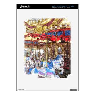 Watercolour Carousel Skins For iPad 3