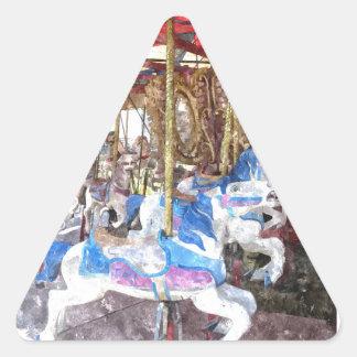 Watercolour Carousel Triangle Sticker