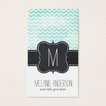 Professional Business Watercolour Chevron Business Card Template
