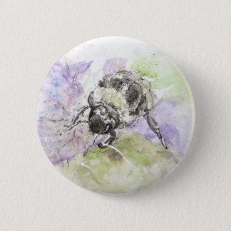 Watercolour Colourfully Bee, Badge/Pin Button
