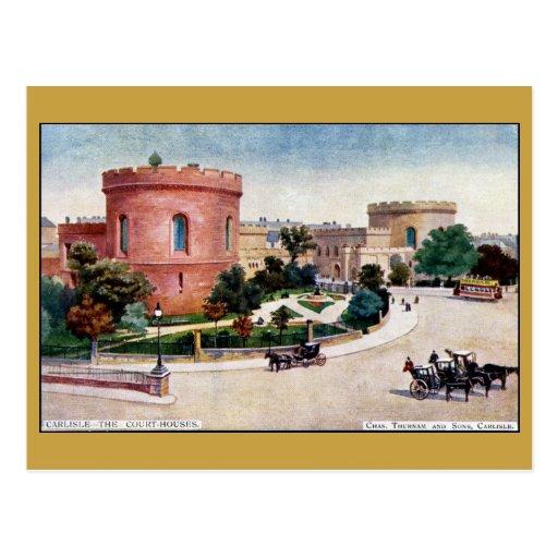 Watercolour de los Palacios de Justicia de Postal