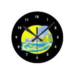 watercolour de Toronto Canadá ningún gráfico de la Reloj