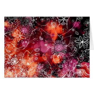 watercolour del jardín de flores - tarjeta de feli