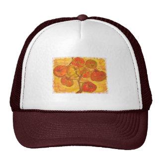watercolour del racimo del tomate gorras