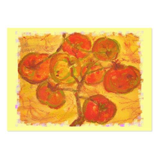 watercolour del racimo del tomate plantilla de tarjeta de visita