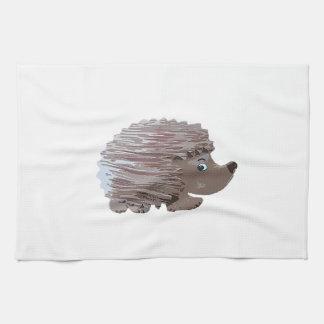 Watercolour Effect Hedgehog Hand Towel