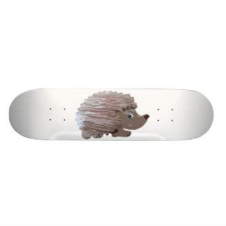 Watercolour Effect Hedgehog Skateboard Deck