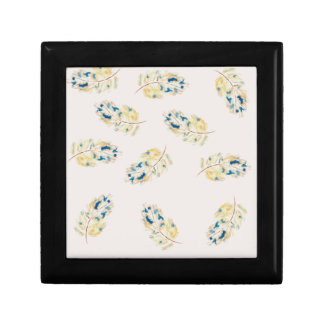 Watercolour  feather pattern keepsake boxes