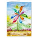 Watercolour, flor de globo felicitacion