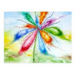 Watercolour, flor de globo tarjeta postal