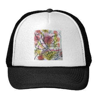 Watercolour flower trucker hat