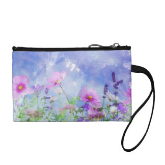 Watercolour Flowers Coin Wallet