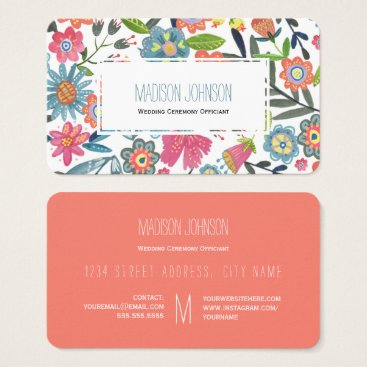 Professional Business Watercolour Flowers | Monogram | Business Cards