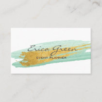 Watercolour Gold Business Card