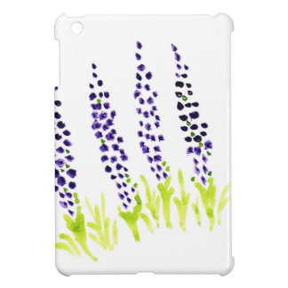 Watercolour grape hyacinth iPad mini cases