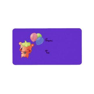Watercolour Hamster Label
