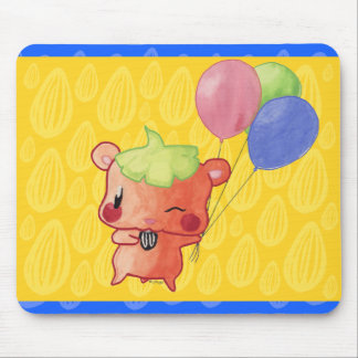 Watercolour Hamster Mouse Pad