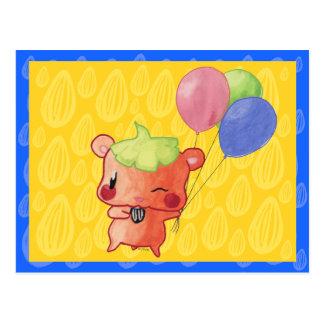 Watercolour Hamster Postcard