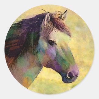 Watercolour Horse Classic Round Sticker