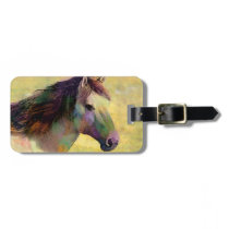 Watercolour Horse Luggage Tag