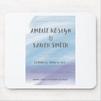 Watercolour invite mouse pad