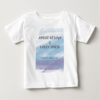 Watercolour invite tee shirt