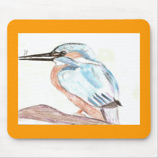 watercolour kingfisher mouse mat