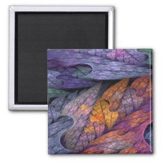 """Watercolour Leaves"" Magnet"