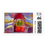 Watercolour Lighthouse Stamp