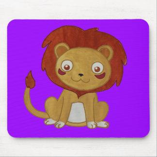 Watercolour Lion Mouse Pad