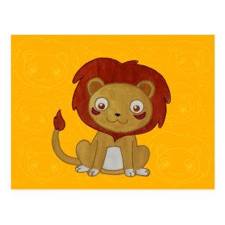 Watercolour Lion Postcard