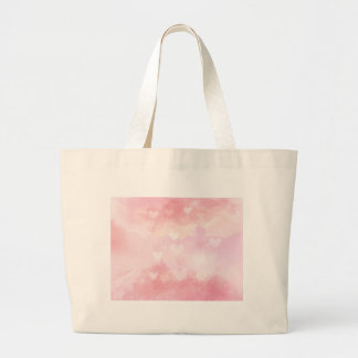 Watercolour Love Hearts Large Tote Bag
