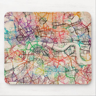 Watercolour Map of London Mouse Pad