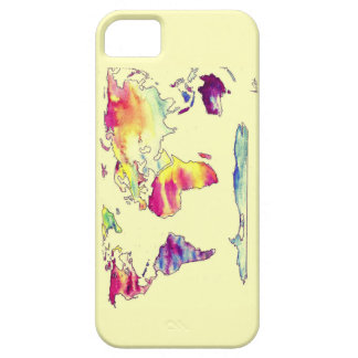 Watercolour map of world phone case