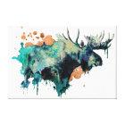 Watercolour Moose Canvas Print