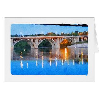 Watercolour Notecard de Saskatoon del puente de Tarjeta Pequeña