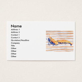 Watercolour of Shrimp on a dock, fishing bait Business Card
