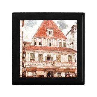 Watercolour of Steyr Bummerlhaus by Rudolf von Alt Keepsake Boxes