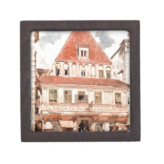 Watercolour of Steyr Bummerlhaus by Rudolf von Alt Premium Gift Box
