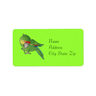 Watercolour parrot address label