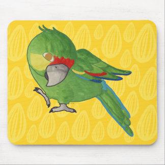 Watercolour parrot mouse pad