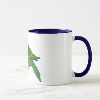 Watercolour parrot mug