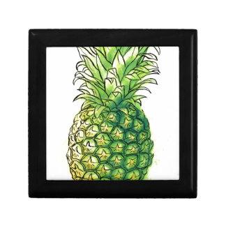 Watercolour pineaple jewelry box