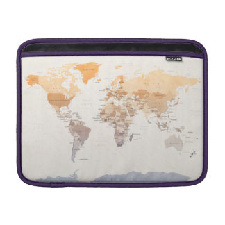 Watercolour Political Map of the World Sleeve For MacBook Air