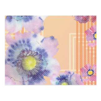 Watercolour Poppies Throw pillow Post Card