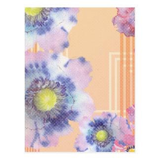 Watercolour Poppies Throw pillow Postcard