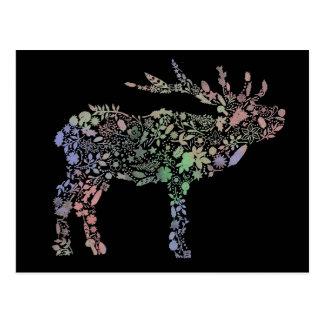 Watercolour Reindeer Postcard