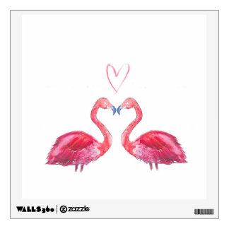 Watercolour rosado del corazón del amor del vinilo adhesivo