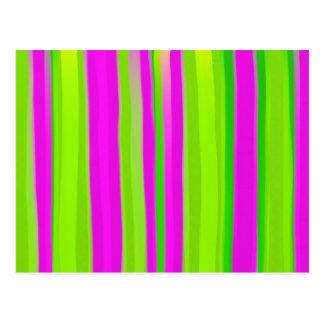 Watercolour Stripes Postcard