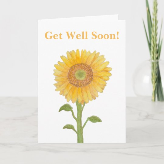 Watercolour sunflower get well soon greeting cards zazzle watercolour sunflower get well soon greeting cards m4hsunfo